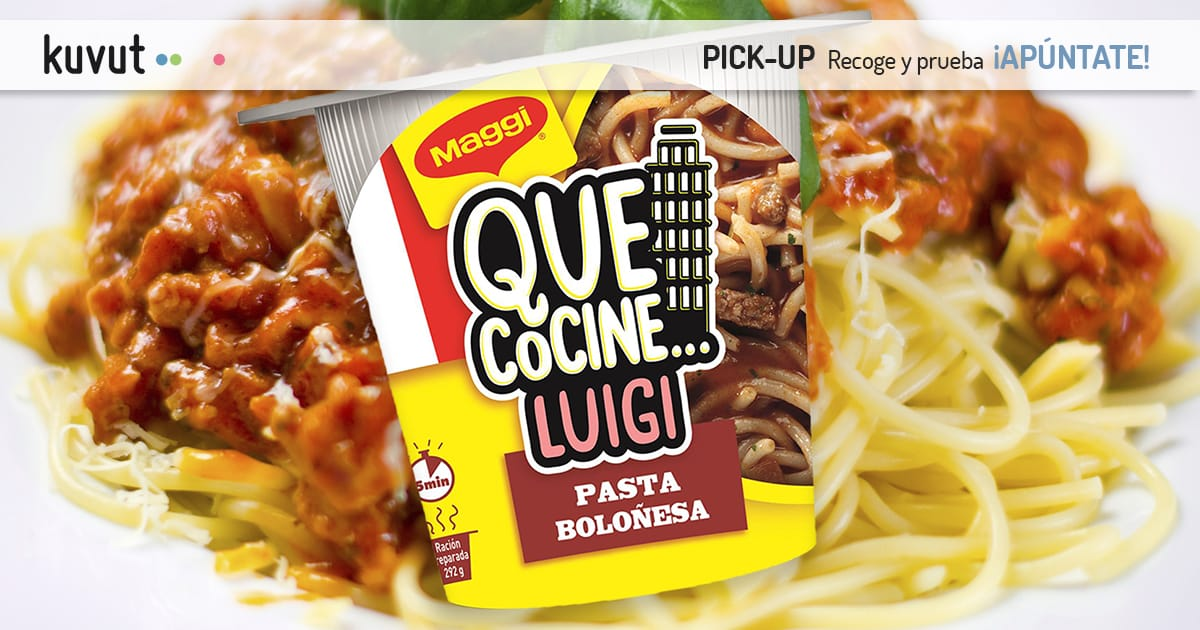 Novedad: Pick-up sampling: Que cocine Luigi